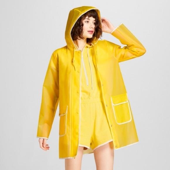 3e1be1d5b7d NWT Hunter for Target Women s Rain Coat Yellow Med